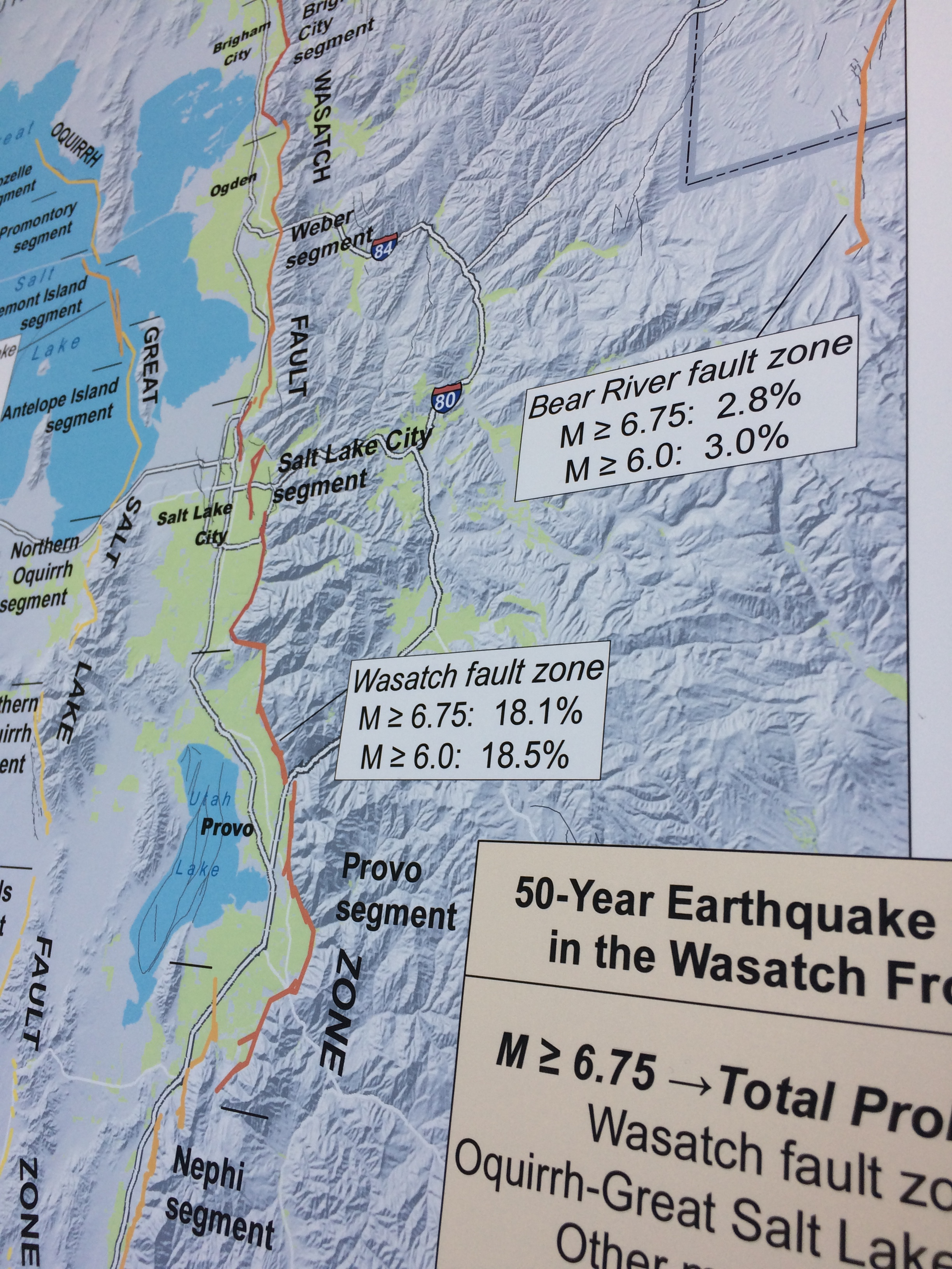 fault zone map close