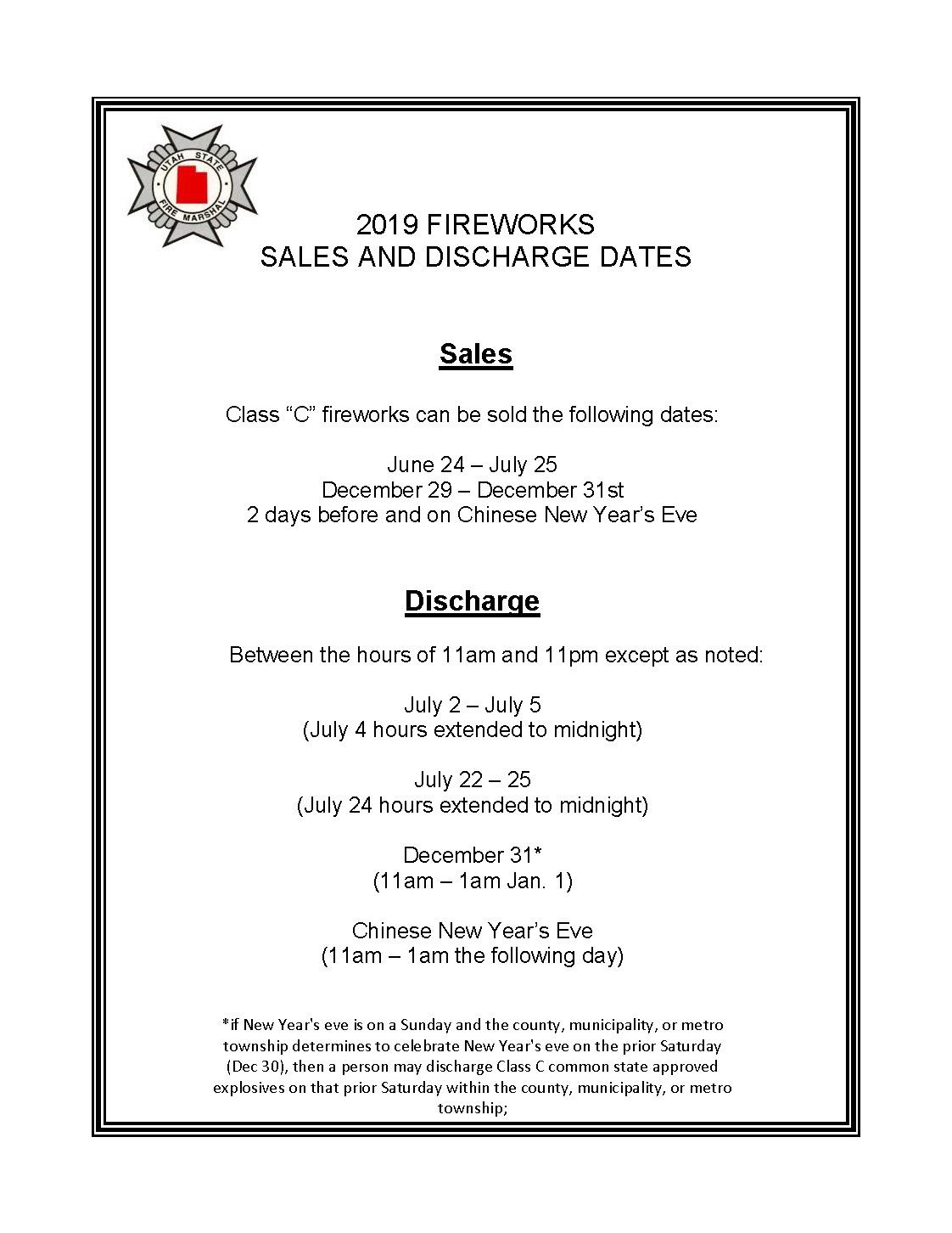 Fireworks   DPS – Fire Marshal