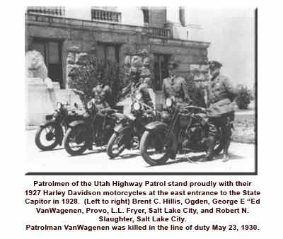 Patrolmen with 1927 Harley Davidsons