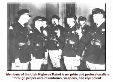 Historical photo of troopers taking oath