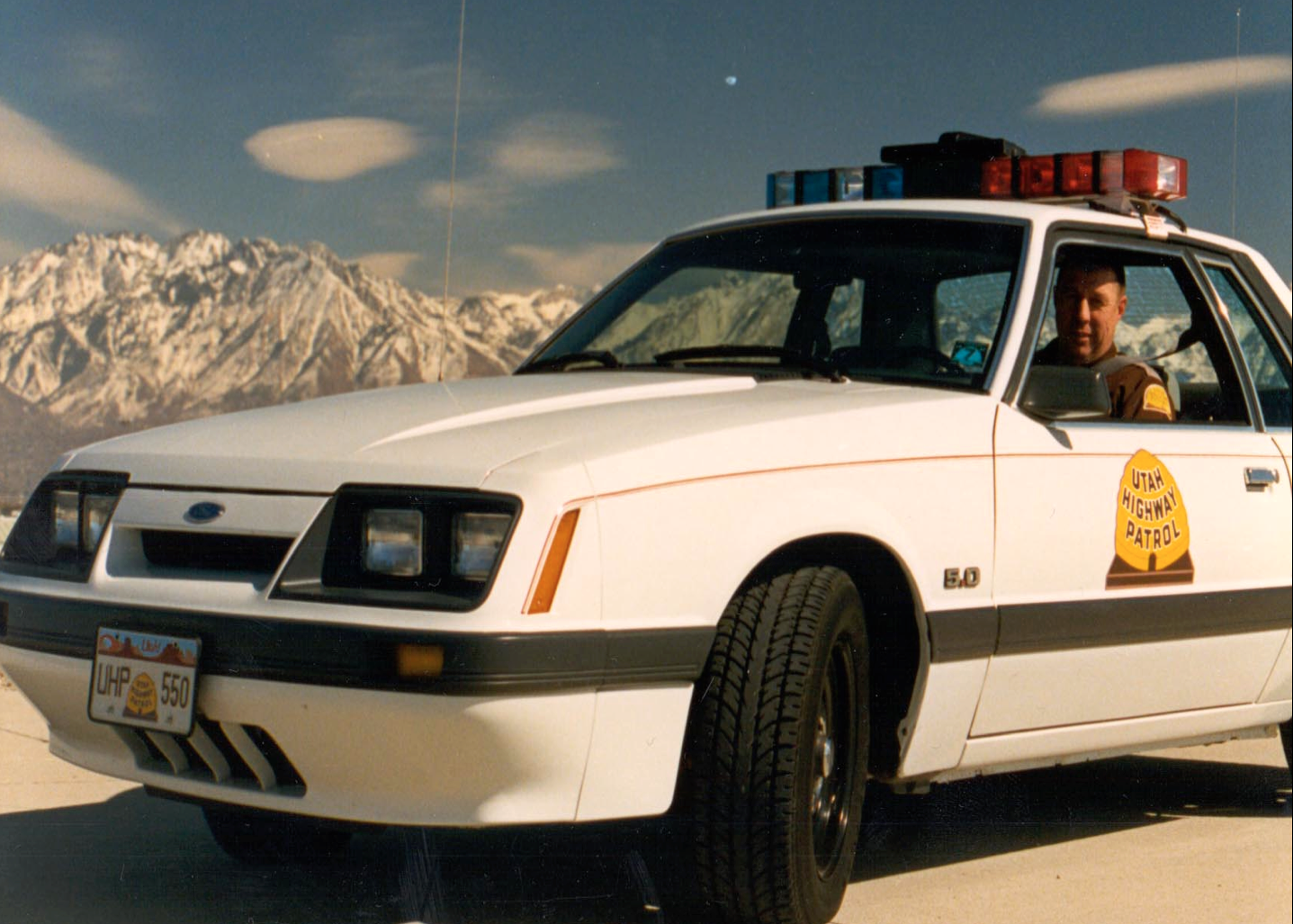 Lt. Norm Steen in a Mustang