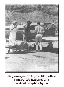 Early air transport of crash victim