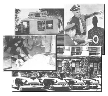 Historical photos of UHP cars and weapons training