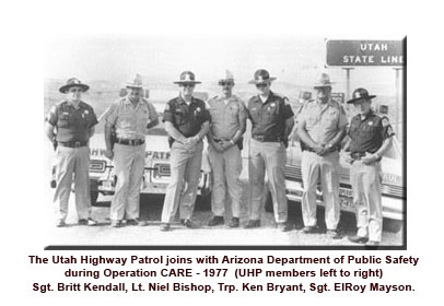 UHP Troopers with AZ state troopers as part of a CARE operation