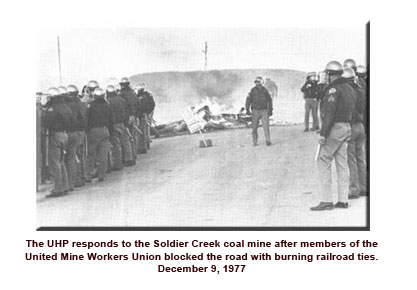 Troopers at the coal strike