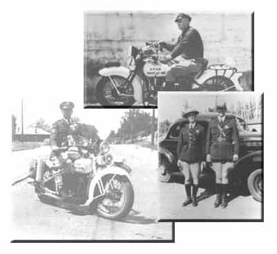 picture of UHP troopers on motorcycles in black and white