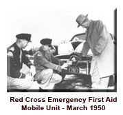Red cross first ad mobile unit 1950