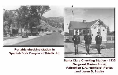 Historical photos of UHP portable and permanent checking stations