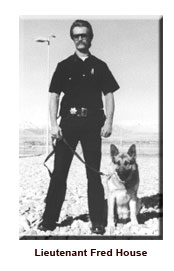 Lt. Fred House with K9