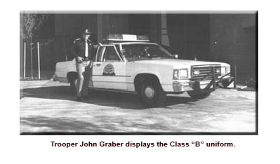 John Graber in Class B Uniform