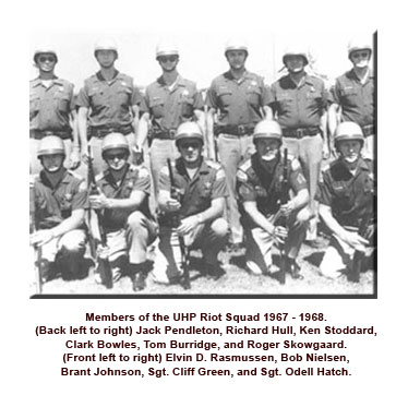 Riot squad members posing for group photo