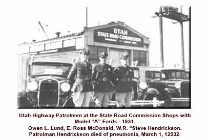 UHP Patrolmen with Model A Fords