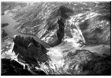 Aerial view of Thistle mud slide