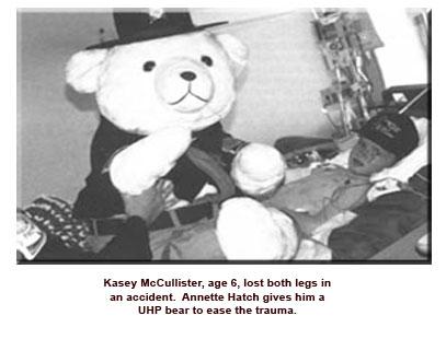 6 year old boy with large teddy bear
