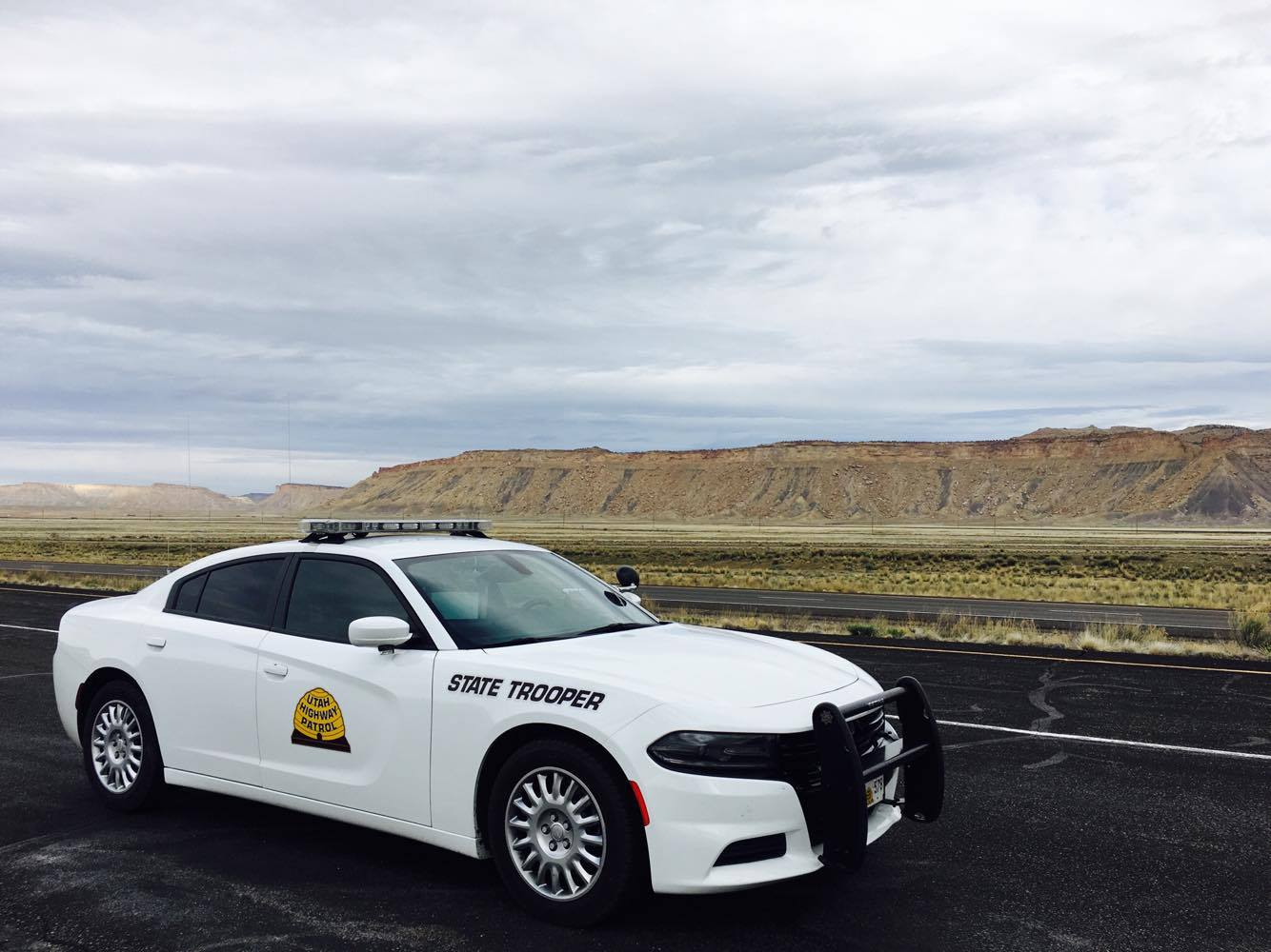 UHP Dodge Charger in eastern Utah.