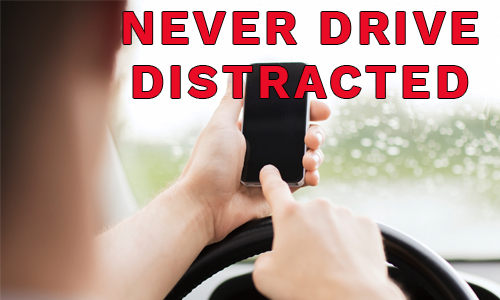Never drive distracted