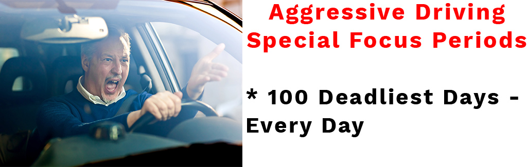 Aggressive Driving Special Focus Periods * 100 Deadliest Days - Every Day