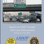 Screen cap of Cover of HOV Enforcement February 2018