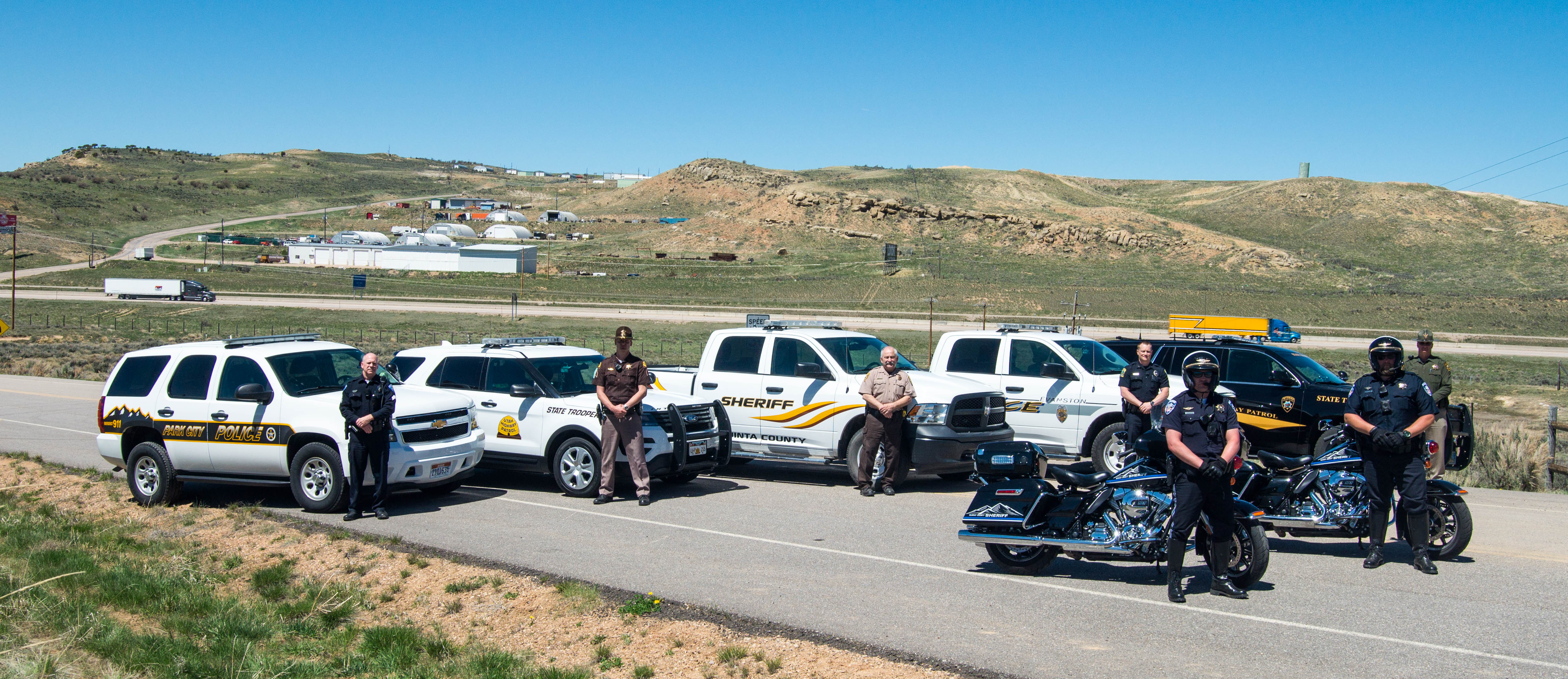 Law enforcement officers from Park City Police Department, Utah Highway Patrol, Uinta County (WY) Sheriff's Office, Evanston Police Department, Wyoming Highway Patrol and Summit County Sheriff's Office will be participating in the Border to Border enforcement operation.