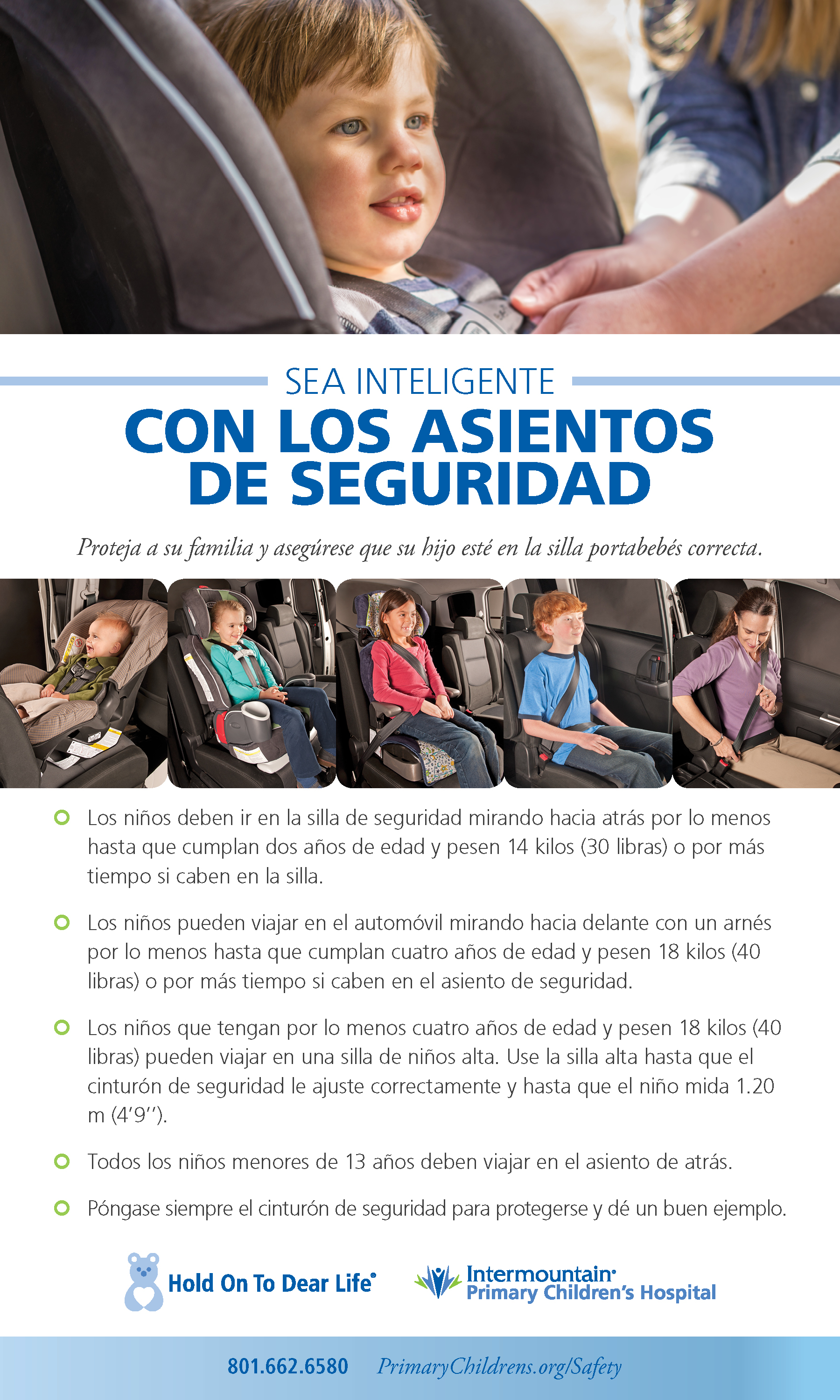 Be Smart About Car Seats Spanish
