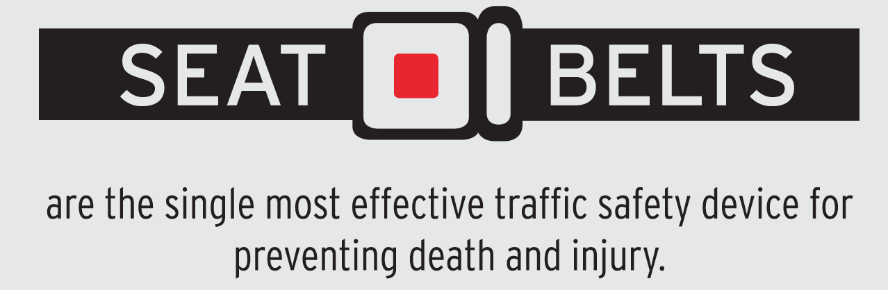 Image of seat belt - the most effective traffic safety device for preventing death and injury