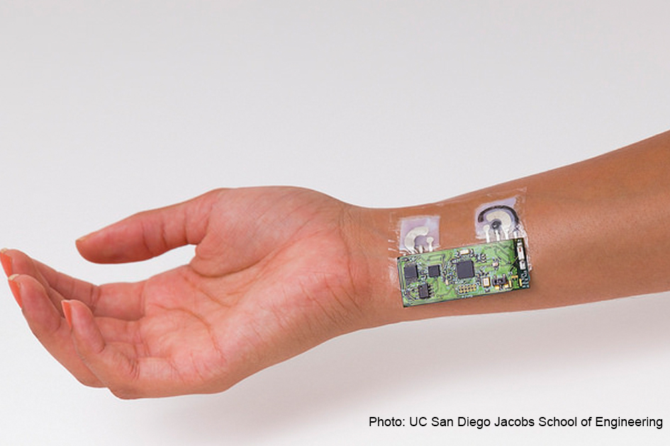 The temporary tattoo features an attached electronic reader that can send information on alcohol levels to a smart phone.