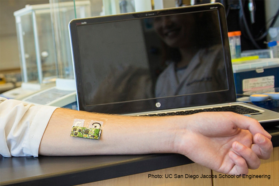 The temporary tattoo displayed on someone's arm.