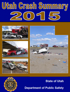 Screen cap of 2015 Utah crash summary cover