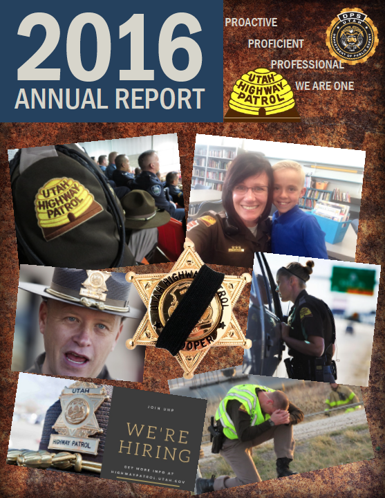 Screen shot of cover of UHP's 2016 annual report