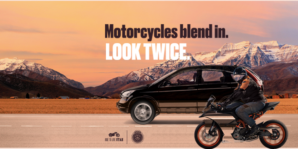 Motorcycles can blend in - look twice