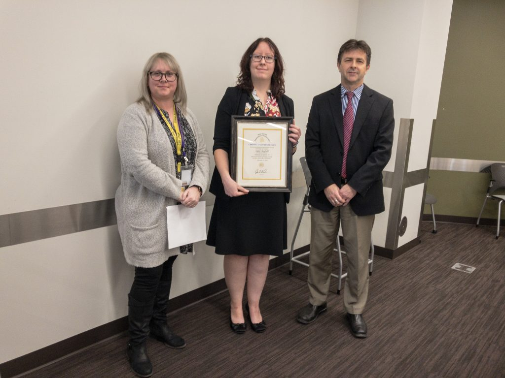 Amber Mayfield was promoted to Forensic Scientist II