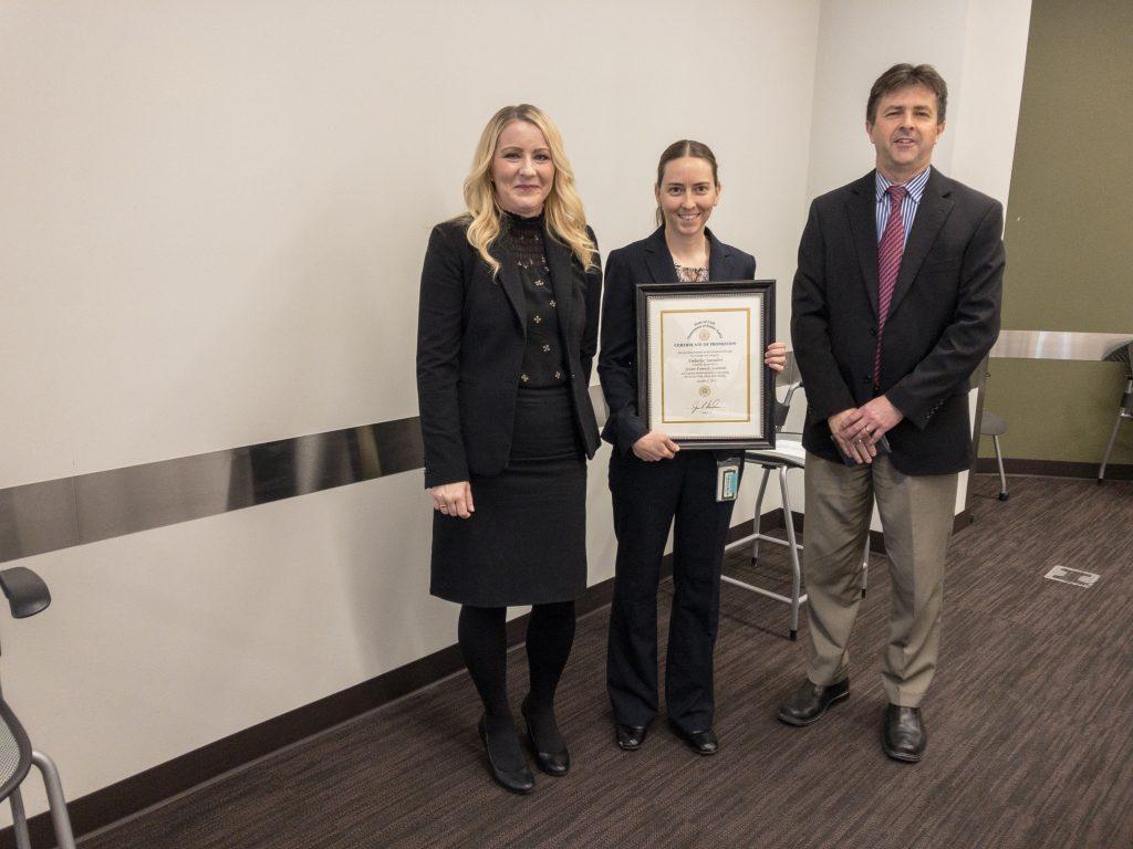 Amberlee Saunders was promoted to Senior Forensic Scientist