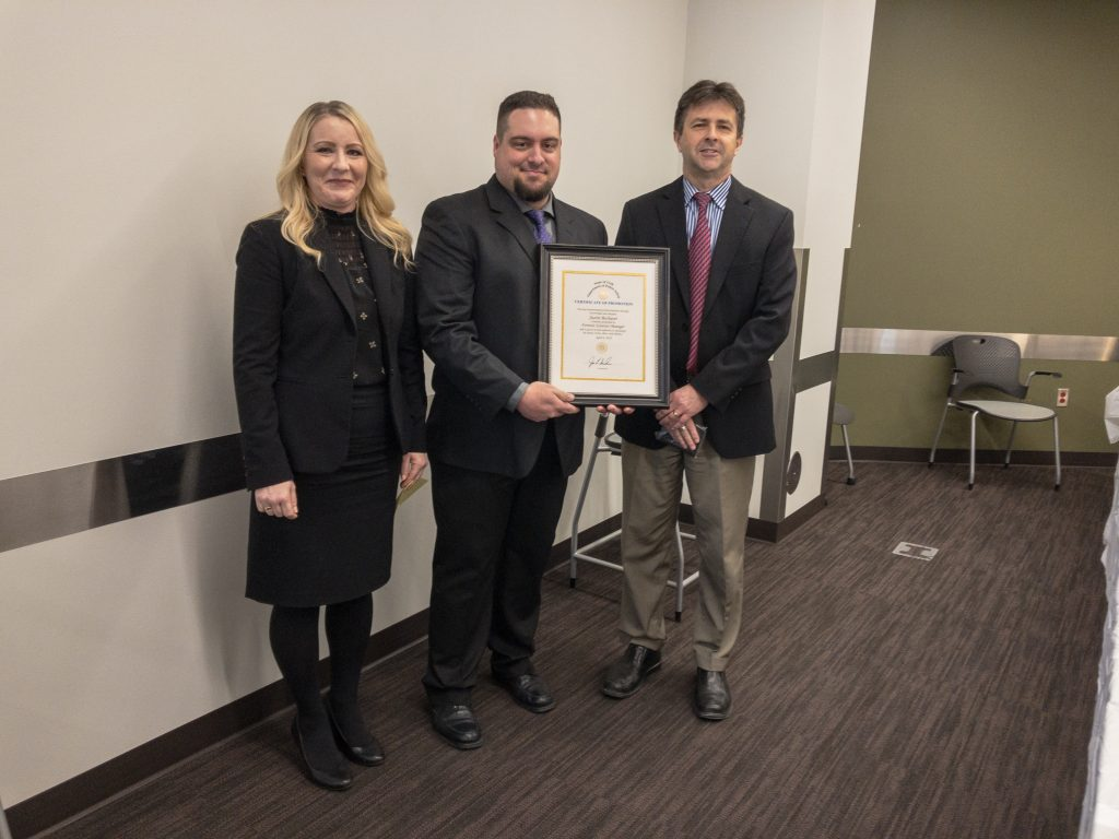 Justin Bechaver was promoted to Forensic Scientist Manager
