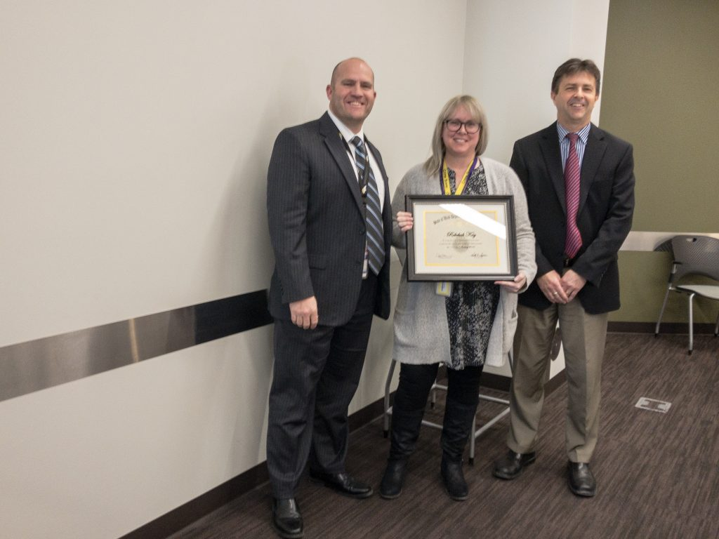 Rebekah Kay was recognized for 10 years of service.