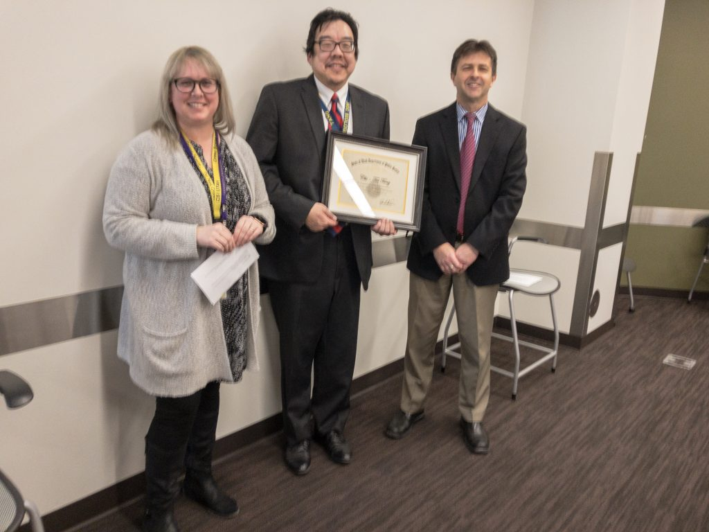 Chi-Tai Tang was recognized for 5 years of service.