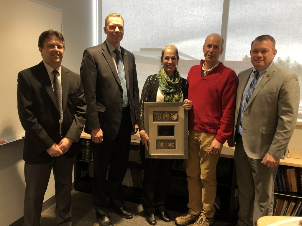 Pilar Shortsleeve celebrated her retirement after 30 years of service