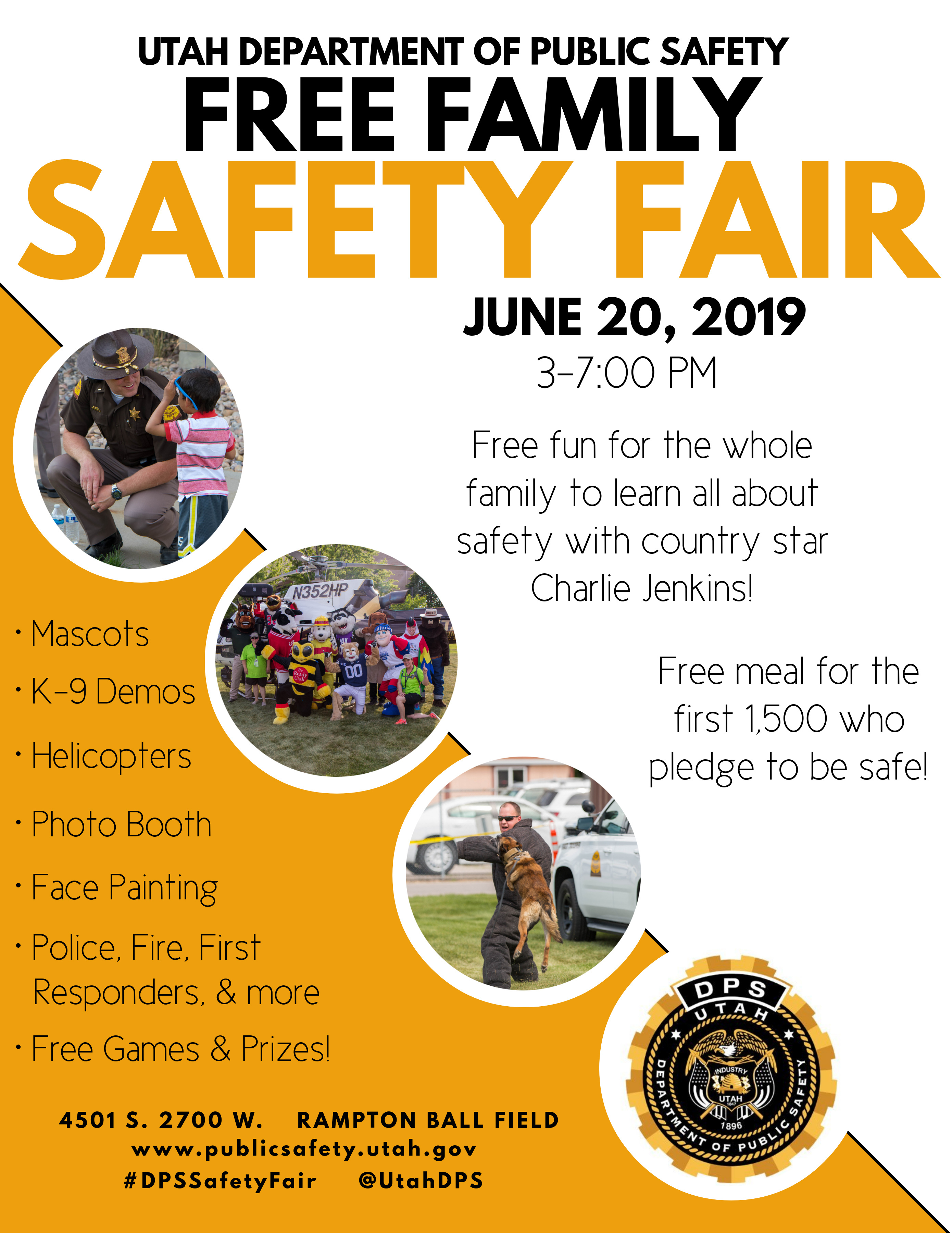 2019 DPS Safety Fair June 20 3-7 pm