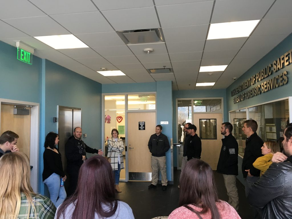 As part of the monthly sex crimes training, attendees were offered a tour of the crime lab's facilities.