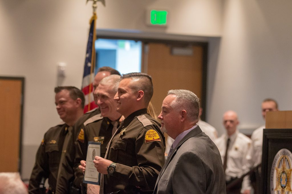 UHP Trooper receives his certificate