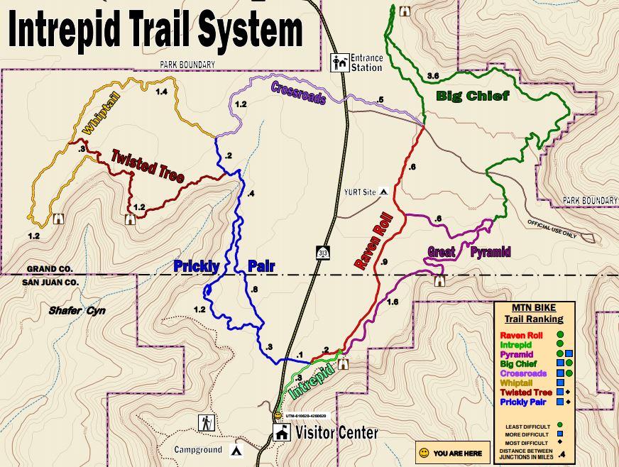 Intrepid Mountain Biking Trail Map
