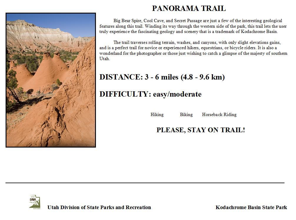 Panorama Trail Sign