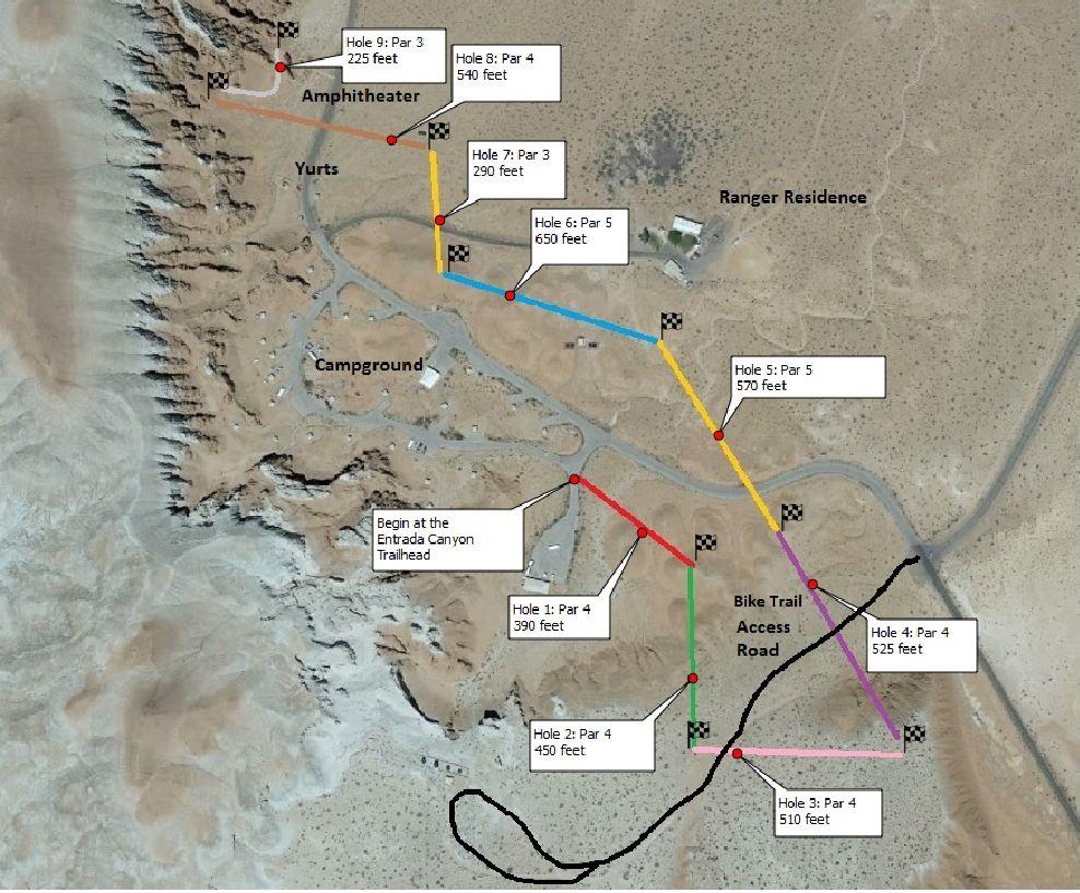 Goblin Valley Map Disc Golf | Utah State Parks