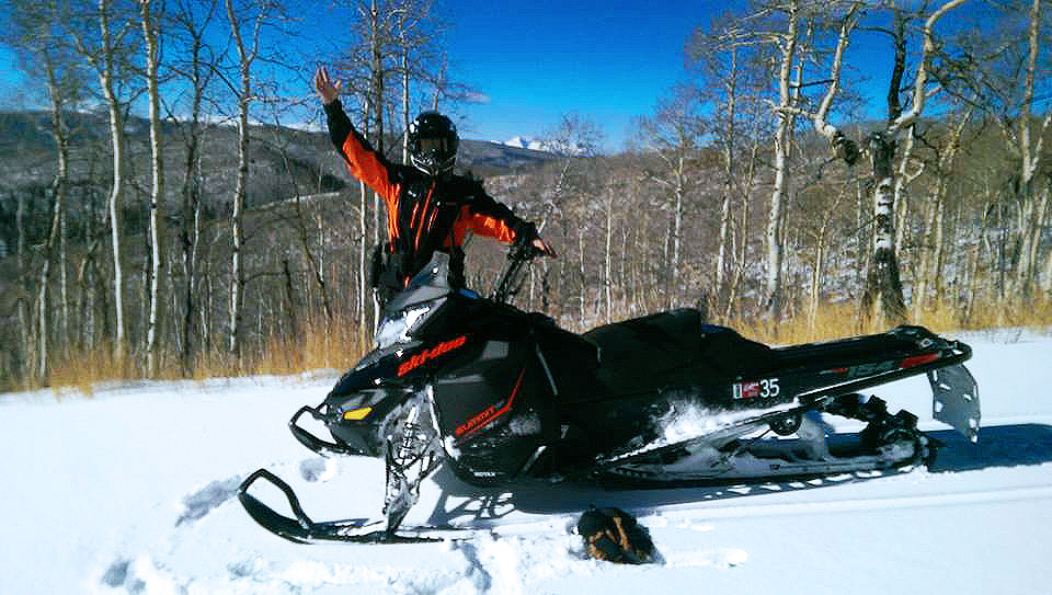 Having fun is the most important rule when snowmobiling