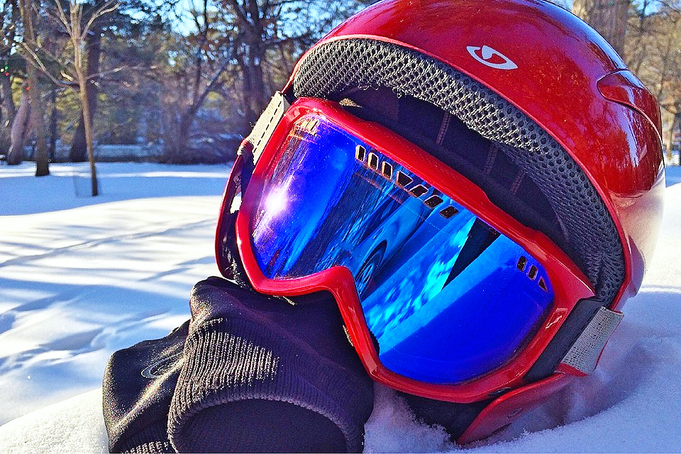 Helmets are a must for anyone riding a snowmobile.