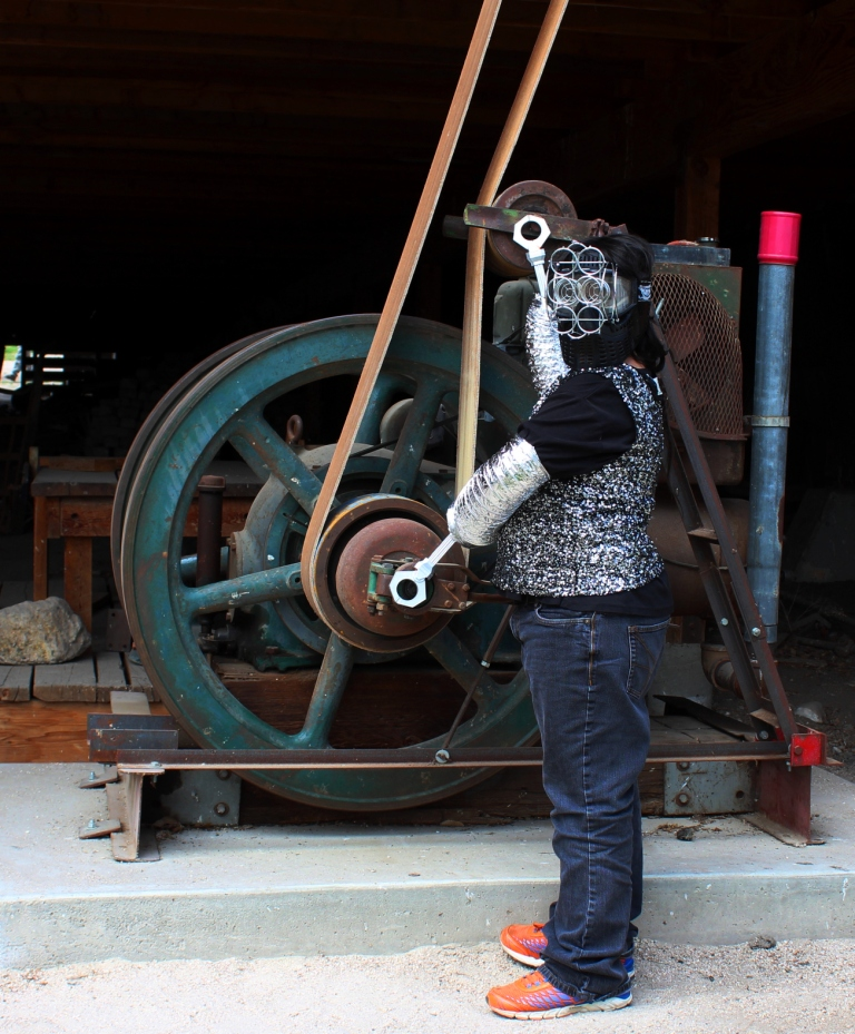 Example of a Time Traveler at Frontier Homestead State Park and Museum