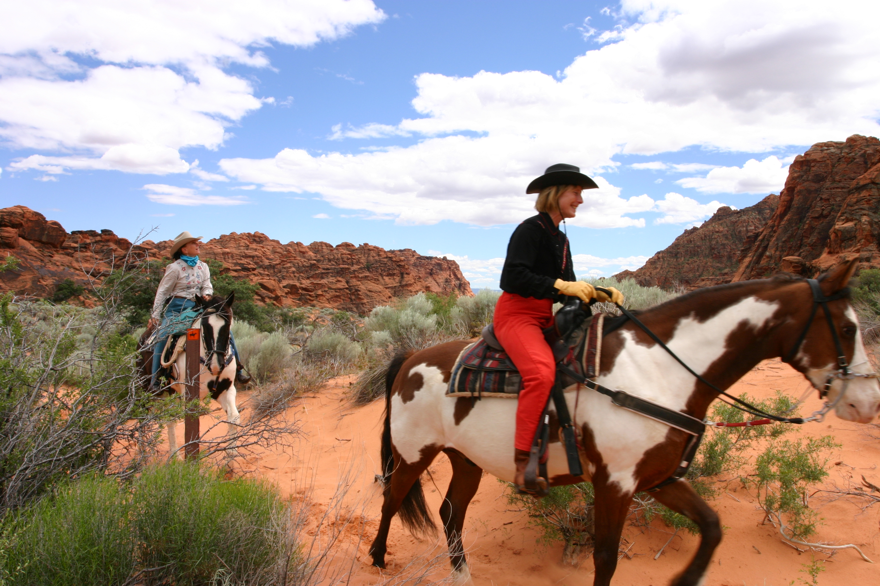 snow canyon state park horseback